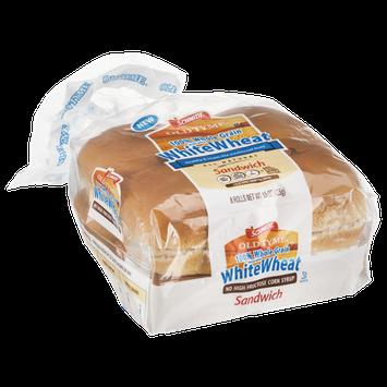 Schmidt Old Tyme 100% Whole Grain White Wheat Sandwich Rolls - 8 CT