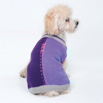 Ethical Half and Half Dog Sweater in Lilac - Extra Small