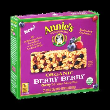 Annie's®  Homegrown Organic Granola Bars Organic Berry Berry