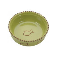 Ethical Pet Products (Spot) CSO6904 Terra Cotta Cat Dish, 5-Inch, Green