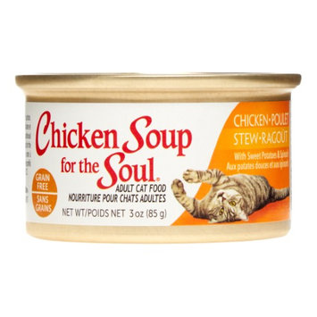 Chicken Soup For The Soul Grain Free Chicken Stew with Sweet Potatoes and Spinach Canned Cat Food