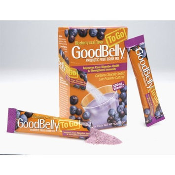 Goodbelly Probiotic Fruit Drink Blueberry Acai GoodBelly ToGo - Probiotic Fruit Drink Mix + Vitamin C (8 count)