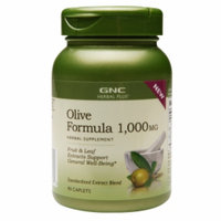 GNC Herbal Plus Olive Formula 1000mg, Caplets, 90 ea