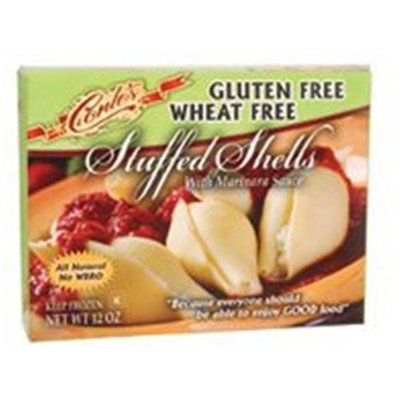 Conte's Gluten Free Cheese Stuffed Shells Micro Meal, Size: 12 Oz (Pack of 6)
