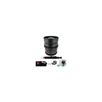 Rokinon ROKINON 24mm T1.5 Cine Wide Angle Lens for Canon EF Mount + Lens Cleaning Pen +