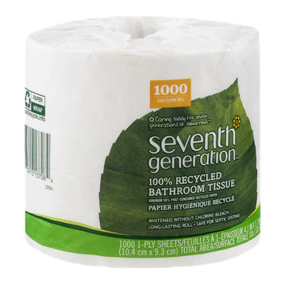 Seventh Generation 100% Recycled Bathroom Tissue