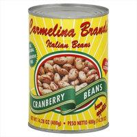Carmelina Brands Italian Borlotti Beans Cranberry Beans 14. 28-Ounce Units -Pack of 12