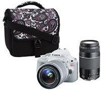 Canon Rebel SL1 18MP DSLR Camera w/ 18-55 STM & 75-300mm Lenses & Accs.