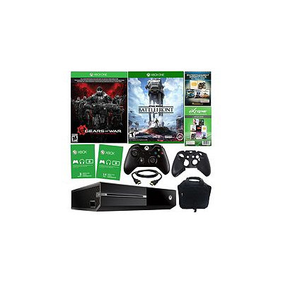 Microsoft Corp. Xbox One 500GB Gears of War Bundle w/ Battlefront, Accessories