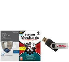 McAfee & Intel Antivirus Plus System Mechanic for Life of 7 Computers