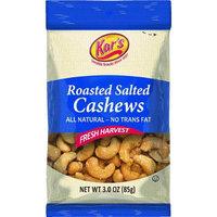 Kar Nut Products Company Kars Salted Cashews 3 Oz(Case of 12)
