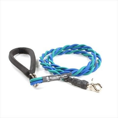 Bungee Pupee BT207 Medium Up to 45 Lbs - Teal and Blue 6 ft. Leash