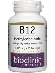 Bioclinic Naturals - B12 Methylcobalamin 5000 mcg. - 60 Lozenges