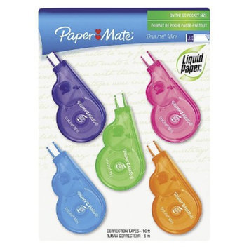Paper Mate Non- Refillable Liquid Paper DryLine Mini Correction Tape -