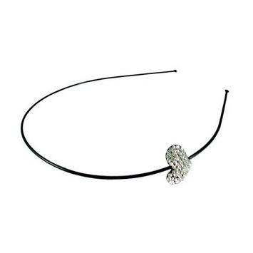 Smoothies Hair Accessories Smoothies Wire Headband Crystal Heart - Black/Clear 01428