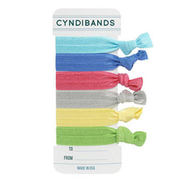 Cyndibands CyndiBands Gift Card Set of 6 Hair Ties, To You From Me, 1 ea