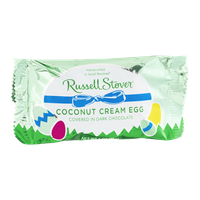 Russell Stover Coconut Cream Egg in Dark Chocolate