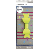 K&Company Paper Bow Pad-Neon and Kraft