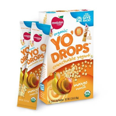 Revolution Foods Yo'Drops Mango Mania 1.25 Ounce, 5-count (Pack of 4)