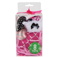 Grreat ChoiceA Pet HolidayTM 8-Pack Cat Toy Gift Pack