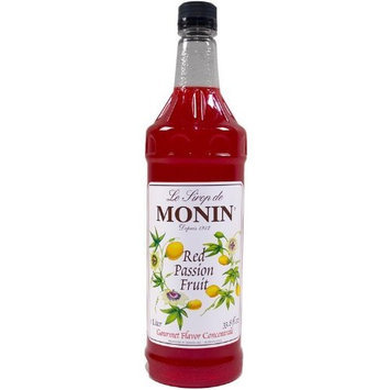 Monin Flavored Syrup, Red Passion Fruit, 33.8-Ounce Plastic Bottles (Pack of 4)