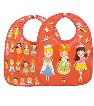 SugarBooger Mini Bib Gift Set (Princess) - 2-pack