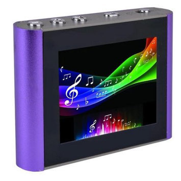 Eclipse T180 1.8 4GB MP3 USB 2 Clip Style Digital Audio LCD Video Player-Purple