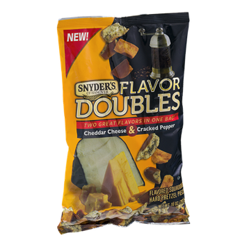 Snyder's Of Hanover Flavor Doubles Cheddar Cheese & Cracked Pepper