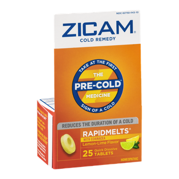 Zicam Cold Remedy Rapidmelts with Echinacea Quick Dissolve Tablets Lemon-Lime Flavor - 25 CT