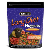 ZUPREEM 230190 Lory Diet Nugget Food, 2.5-Pound