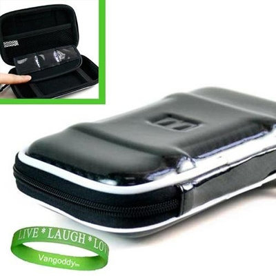 VG Quality ** BLACK ** Hard Storage Case for Garmin Nuvi 3790t Portable GPS Unit with Carbineer Clip + Live * Laugh * Love Wrist Band!!!