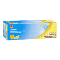 Ahold Lemon Seltzer Water - 12 CT