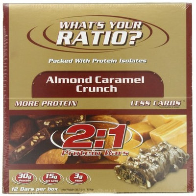 2 1 Protein Bar 2:1 Protein Bar, Almond Caramel Crunch, 12-Count Box