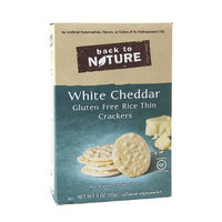 Back to Nature Rice Thin Crackers White Cheddar