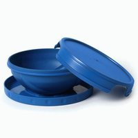 FLATTERWARE Collapsible Bowl Plate Travel For Humans Blue
