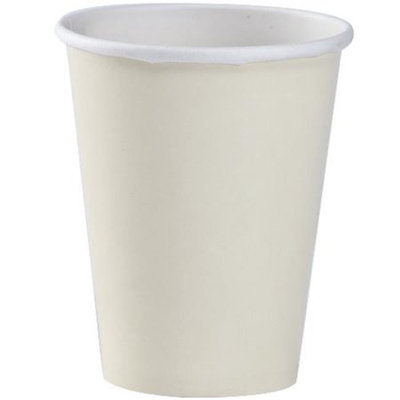 Party Dimensions 75782 9 Oz Solid Ivory High Count Paper Hot Cup - 432 Per Case