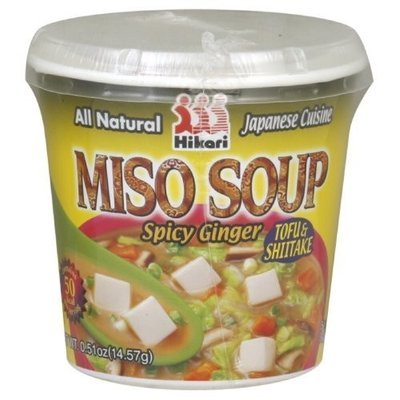 Hikari Miso Soup Spicy Ginger, 0.51-Ounce (Pack of 12)