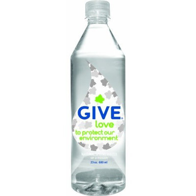Give Water Give Love Natural Spring Water, 23-Ounce Bottles (Pack of 12)