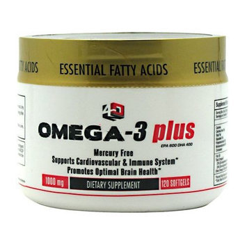 4 DIMENSION NUTRITION Omega-3 Plus, 120 Softgels