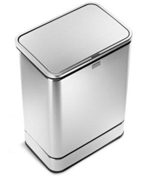 simplehuman Rectangular Sensor Can Fingerprint-Proof Stainless Steel, Brushed, 10.5 gallons, 1 ea