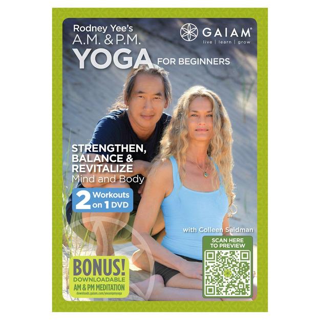 Gaiam Rodney Yee AM/PM Yoga for Beginners DVD