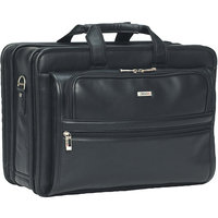 SOLO CASES Classic Leather Laptop Briefcase
