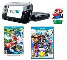 Nintendo Wii U w/ Mario Kart, Super Smash Bros. & amiibo
