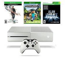 Microsoft Corp. Xbox One White 500GB Quantum Break Bundle with Minecraft