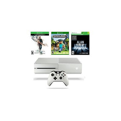 Microsoft Corp. Xbox One White 500GB Quantum Break Bundle with Minecraft