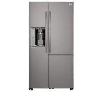 LG LSXS26386D 26.0 Cu. Ft. Black Stainless Steel Side-By-Side Refrigerator - Energy Star