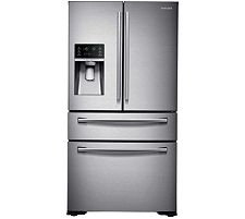 Samsung 29.7 cu. ft. 4-Door French Door Refrigerator in Stainless Steel, Counter Depth