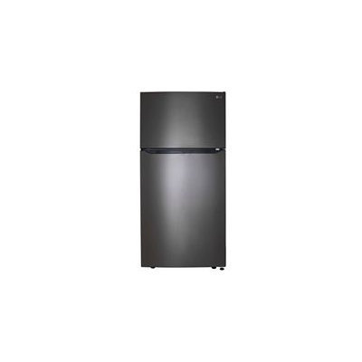 LG LTCS24223D 33 Inch Wide Black Stainless Steel Top-Mount with Electronic Temperature Controls, LoDecibel Quiet Operation, LED Lighting, Full Width Pantry Drawer, 2 Humidity-Controlled Crispers, 3 Door Bins, Automatic Ice Maker and Energy Star Certified