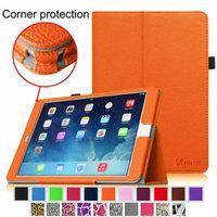 iPad Air 2 Case [Corner Protection] - Fintie Slim Fit Leather Folio Case with Auto Sleep / Wake Feature, Orange