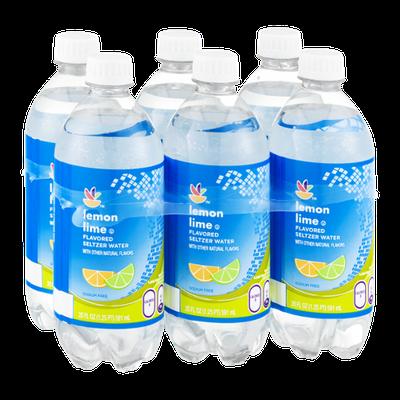 Ahold Flavored Seltzer Water Lemon Lime - 6 PK